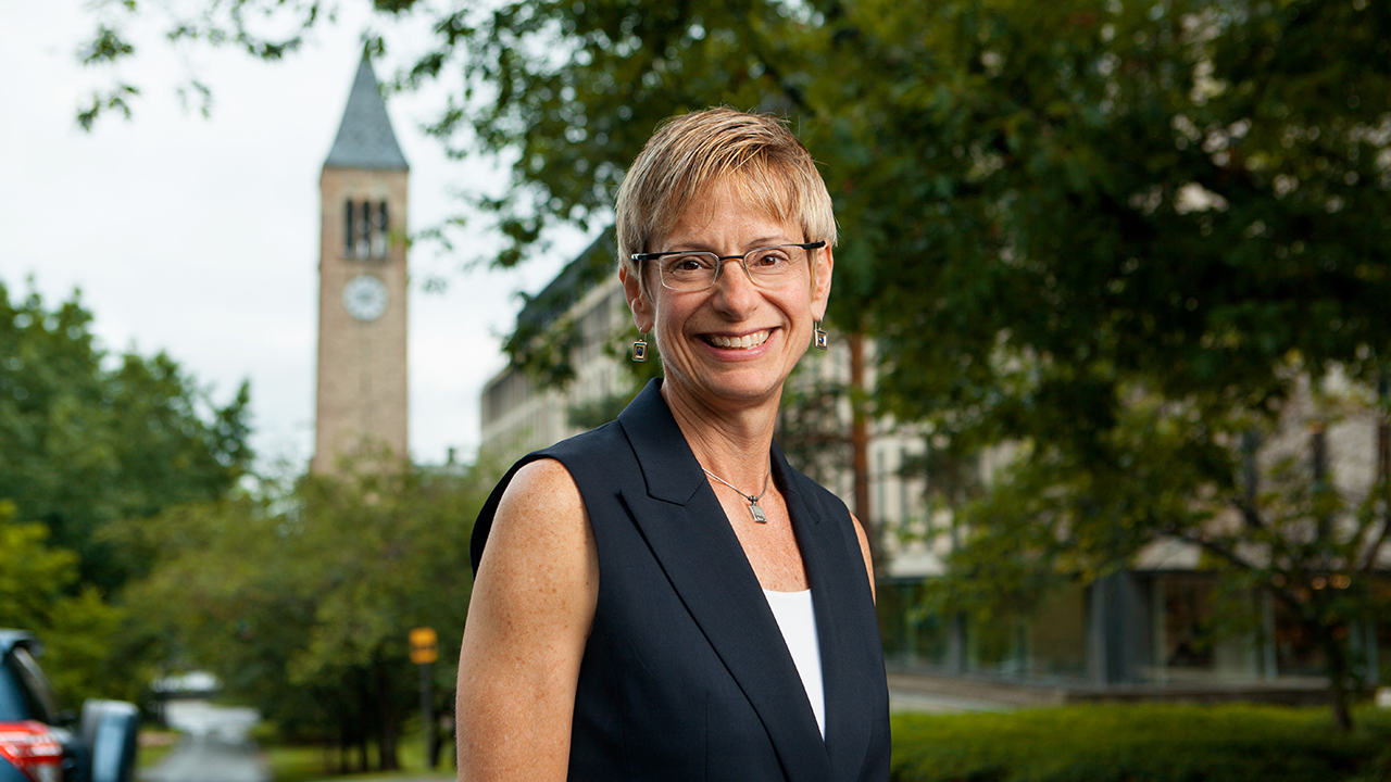 President Elizabeth Garrett | On campus last summer