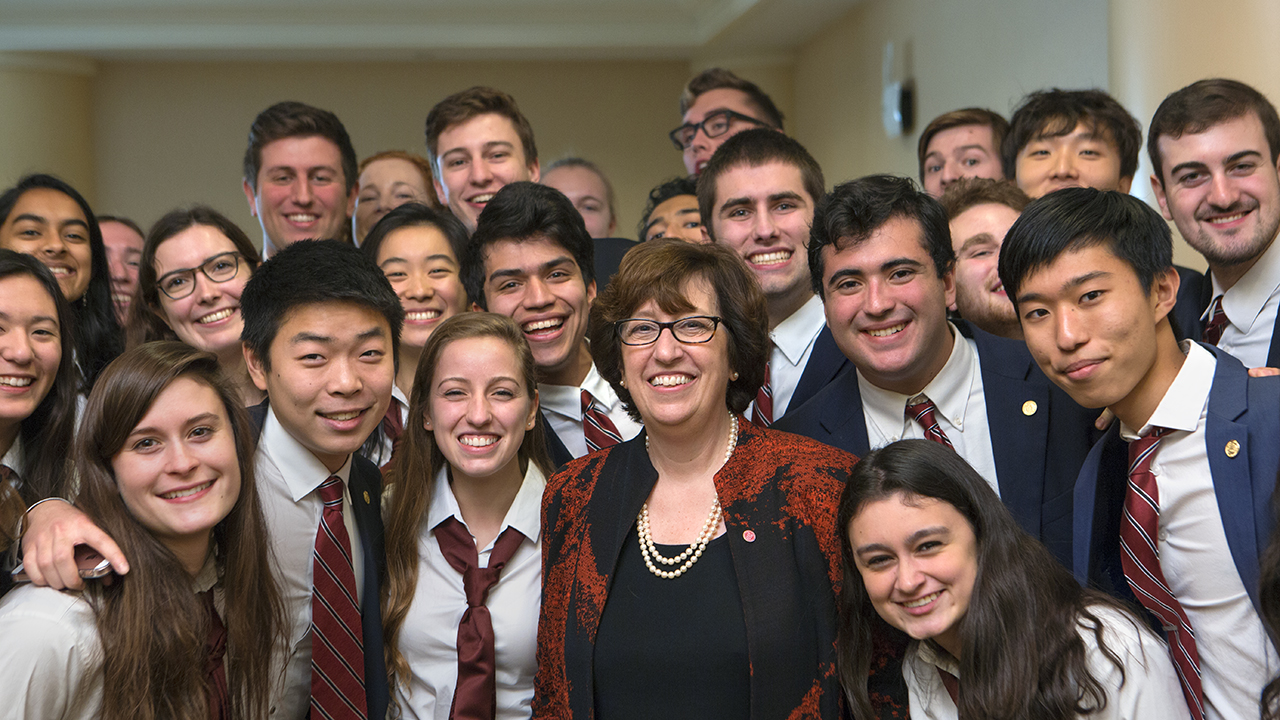 Martha Pollack with the Cornell Glee Club